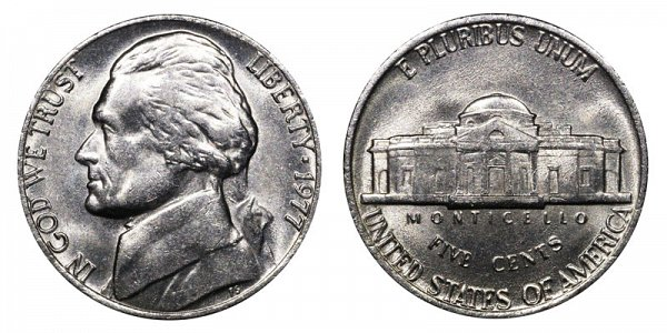 1977 Jefferson Nickel
