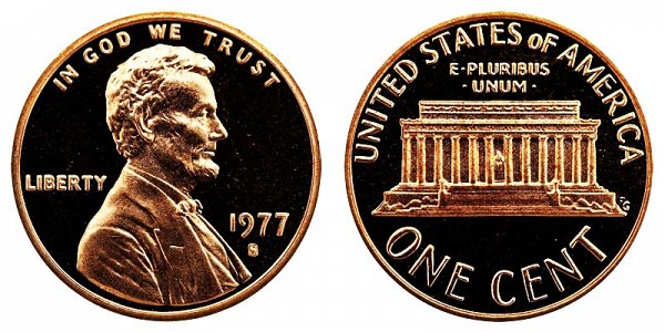 1977 S Lincoln Memorial Cent Penny Proof