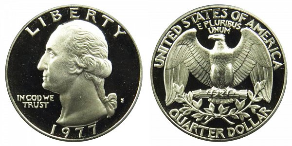 1977 S Washington Quarter Proof