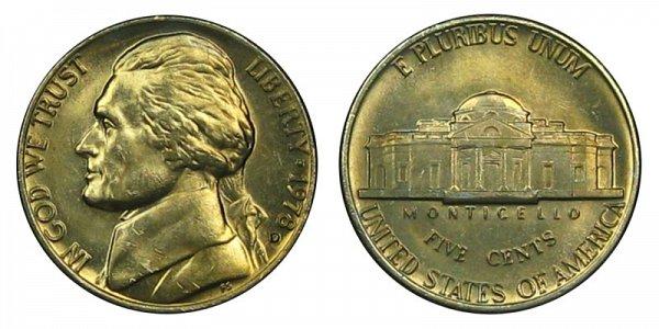 1978 D Jefferson Nickel