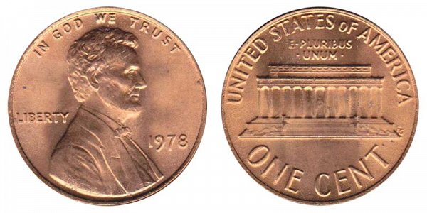 1978 Lincoln Memorial Cent Penny