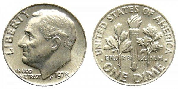 1978 Roosevelt Dime