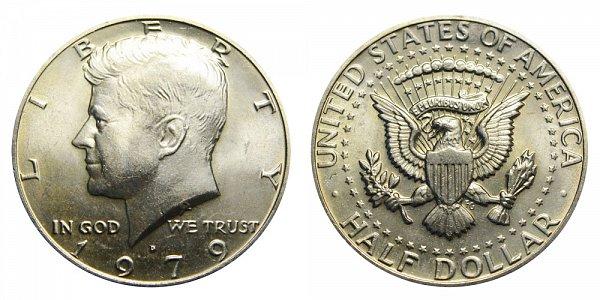 1979 D Kennedy Half Dollar
