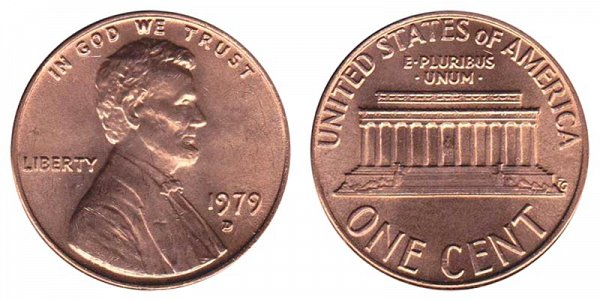 1979 D Lincoln Memorial Cent Penny
