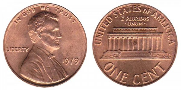 1979 Lincoln Memorial Cent Penny