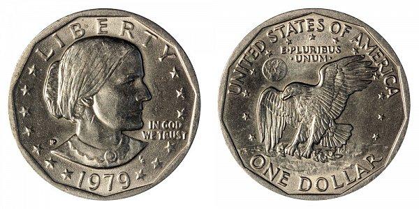 1979 P Susan B Anthony SBA Dollar - Wide Rim