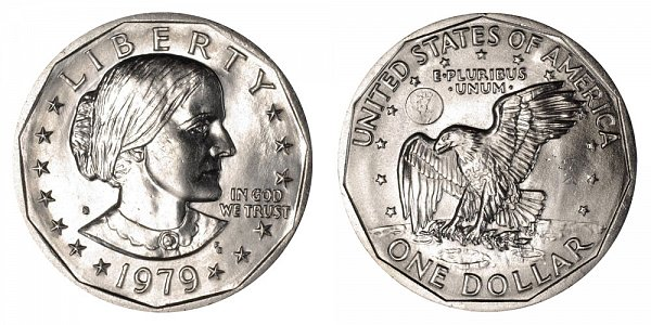 1979 S Susan B Anthony SBA Dollar