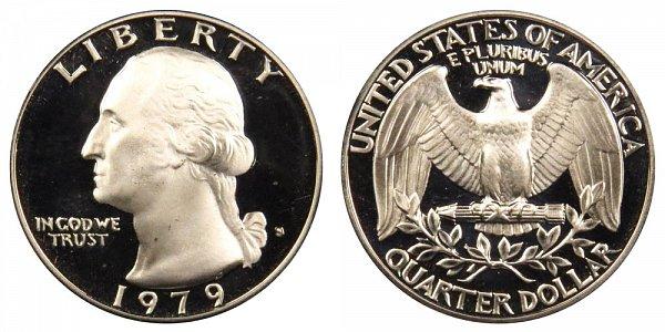 1979 Type 1 Filled S Washington Quarter Proof
