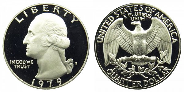 1979 Type 2 Clear S Washington Quarter Proof