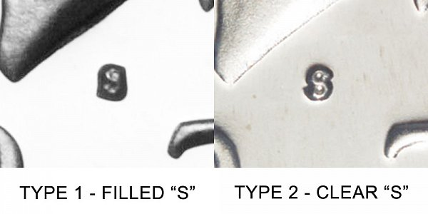 1979 S Kennedy Half Dollar - Type 1 vs Type 2