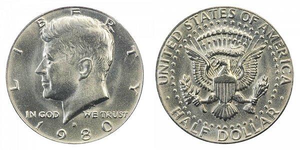 1980 D Kennedy Half Dollar