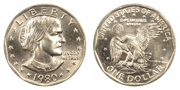 1980 D Susan B Anthony SBA Dollar