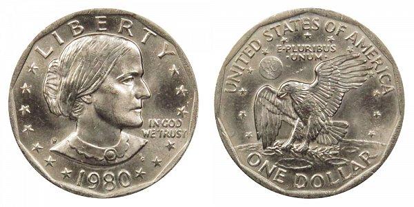 1980 P Susan B Anthony SBA Dollar
