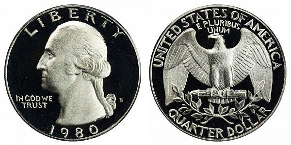 1980 S Washington Quarter Proof