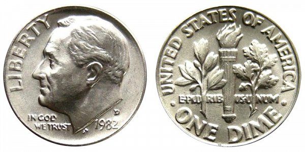 1982 D Roosevelt Dime