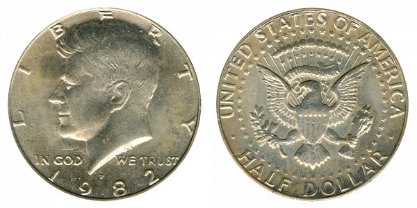 1982 P Kennedy Half Dollar