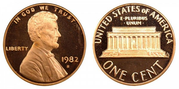 1982 S Lincoln Memorial Cent Penny Proof