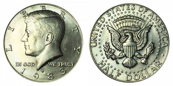 1983 D Kennedy Half Dollar