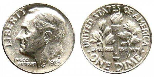 1983 D Roosevelt Dime