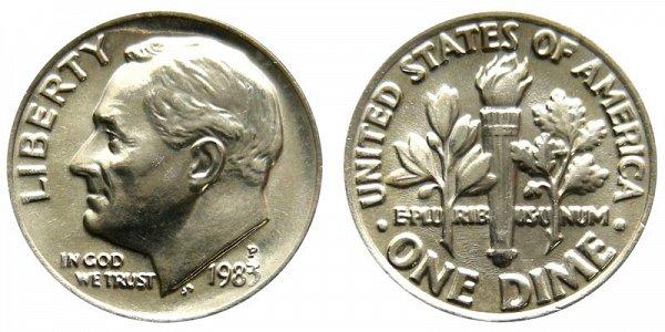 1983 P Roosevelt Dime