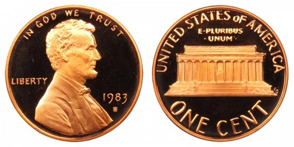 1983 S Lincoln Memorial Cent Penny Proof