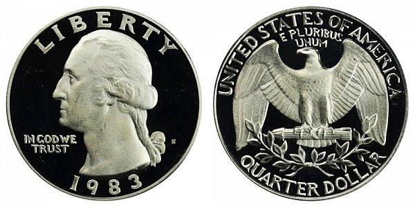 1983 S Washington Quarter Proof