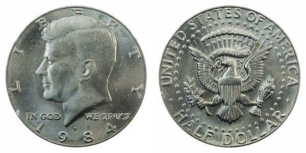 1984 D Kennedy Half Dollar