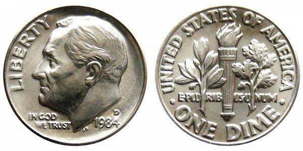 1984 D Roosevelt Dime
