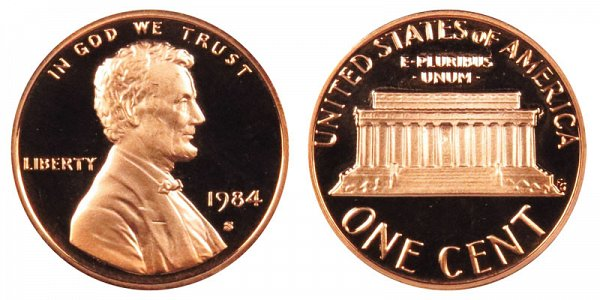 1984 S Lincoln Memorial Cent Penny Proof