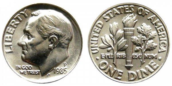 1985 P Roosevelt Dime