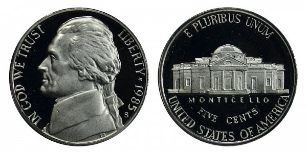 1985 S Jefferson Nickel Proof