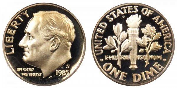 1985 S Roosevelt Dime Proof