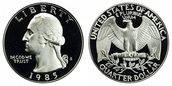 1985 S Washington Quarter Proof