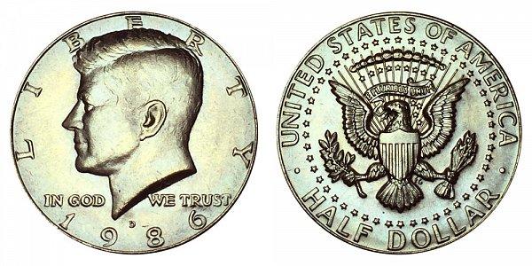 1986 D Kennedy Half Dollar