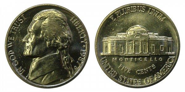 1987 D Jefferson Nickel