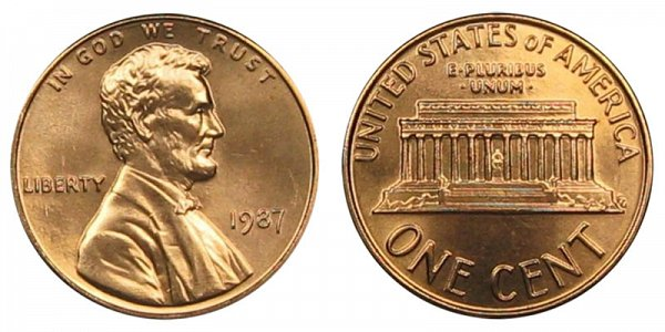 1987 Lincoln Memorial Cent Penny