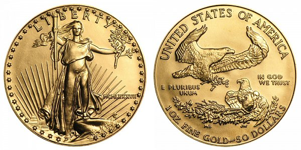 1987 One Ounce American Gold Eagle - 1 oz Gold $50  - MCMLXXXVII