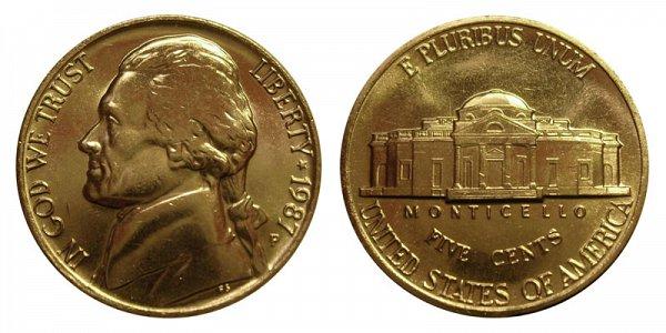 1987 P Jefferson Nickel