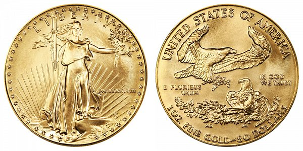 1988 One Ounce American Gold Eagle - 1 oz Gold $50  - MCMLXXXVIII