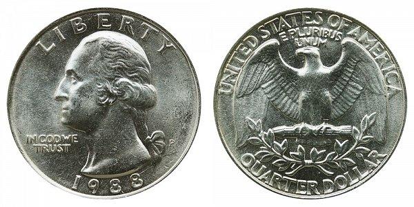 1988 P Washington Quarter