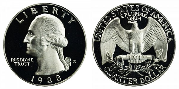 1988 S Washington Quarter Proof