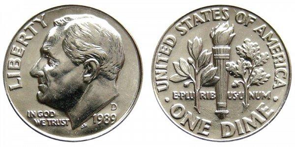 1989 D Roosevelt Dime
