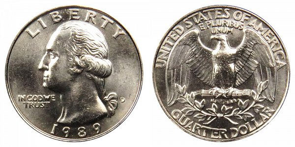 1989 D Washington Quarter