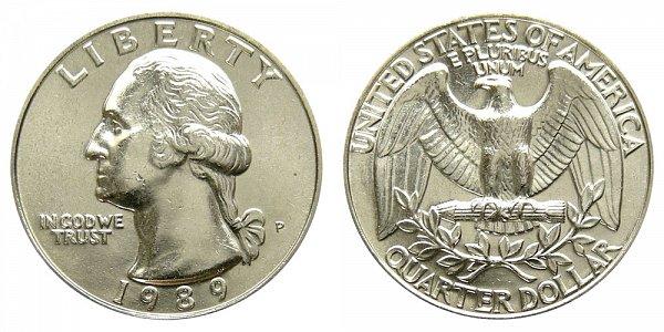 1989 P Washington Quarter