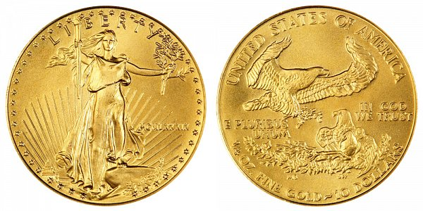 1989 Quarter Ounce American Gold Eagle - 1/4 oz Gold $10  - MCMLXXXIX