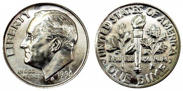 1990 P Roosevelt Dime