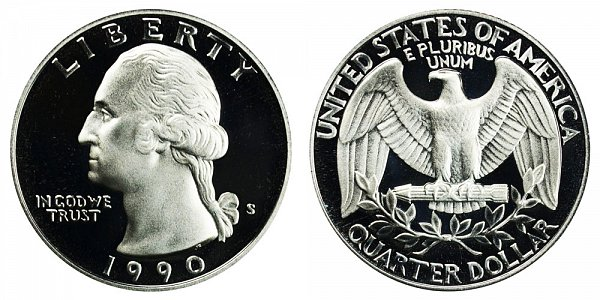 1990 S Washington Quarter Proof