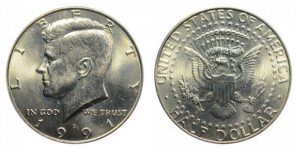 1991 D Kennedy Half Dollar