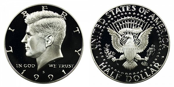 1991 S Kennedy Half Dollar Proof