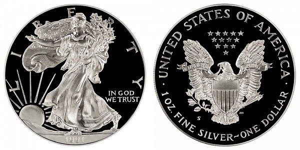 1991 S Proof American Silver Eagle